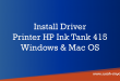 Install driver ink tank 415